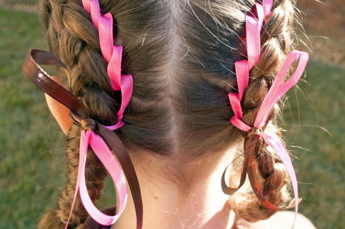 как вплести ленту в косу