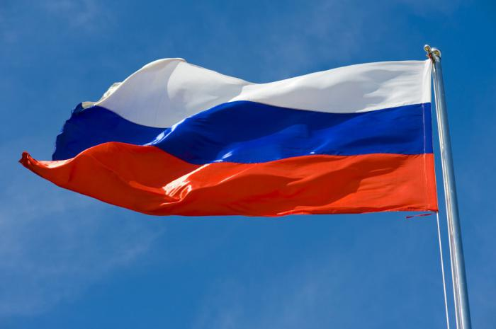 Three colors of Russian flag