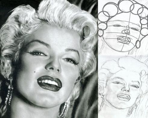 поэтапно рисовать портрет