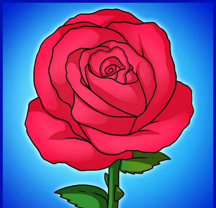 Годовщиной свадьбы, как нарисовать розу картинки ну-ка