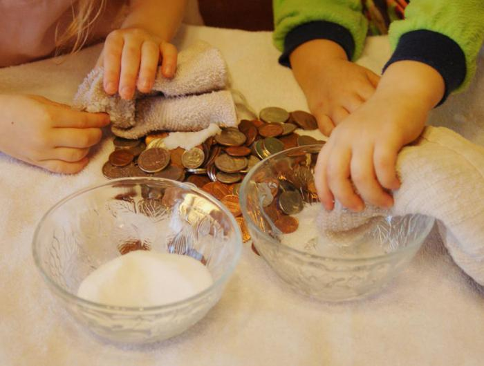 clean coins at home