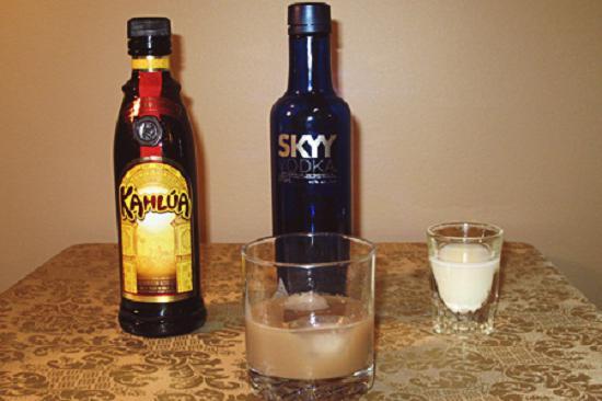 Cocktail white Russian recipe
