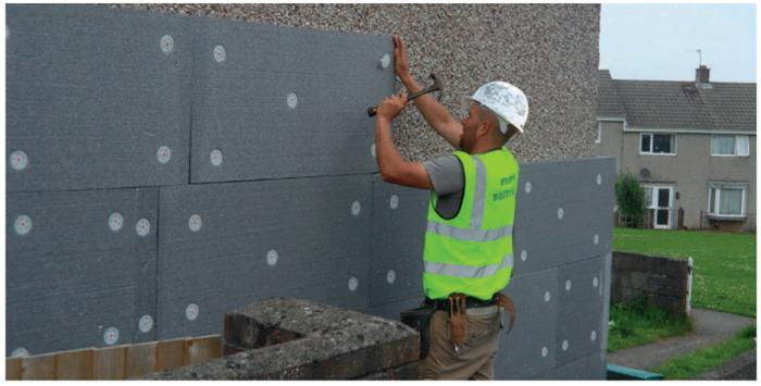 wall insulation outside foam