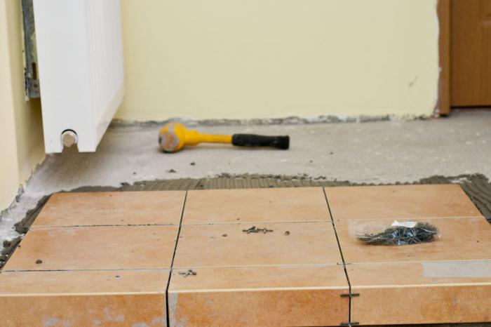 Как положить плитку на пол своими руками? Укладка плитки на бетонный пол :: SYL.ru