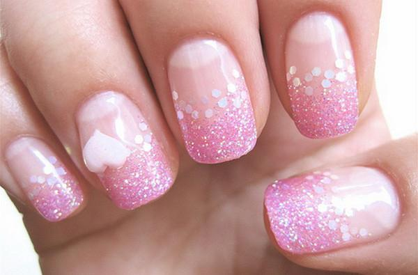 manicure on gel nails