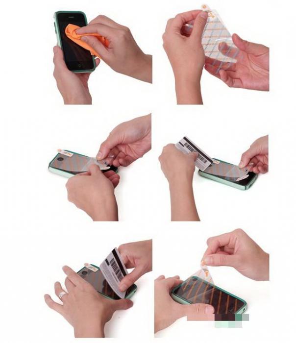Как клеить пленку на телефон видео
