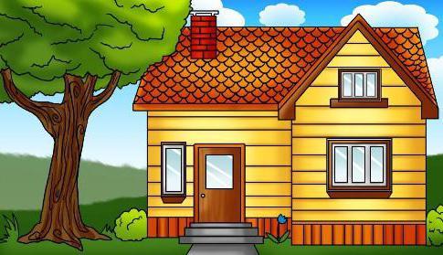 как нарисовать красивый дом