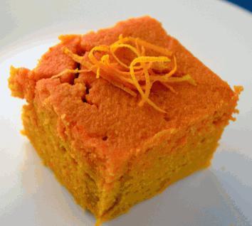 Cake with orange zest