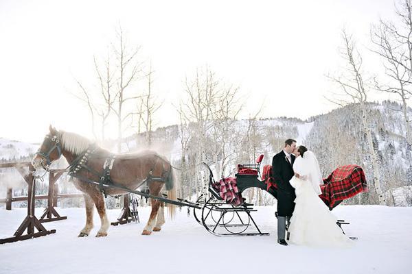 Зимние приглашения на свадьбу