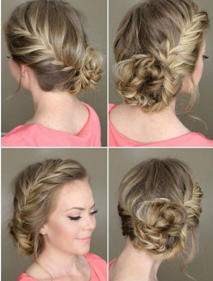 Причёски с элементом плетения на короткие волосы