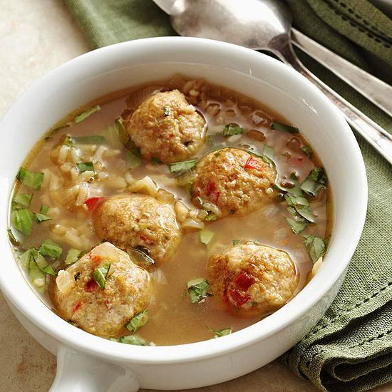 Супы с фрикадельками и рисом с фото