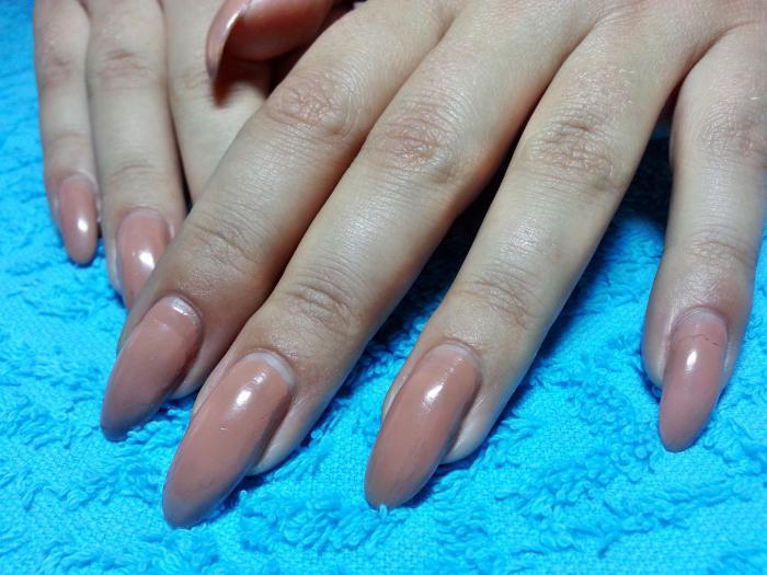 Коррекция ногтей гелем своего ногтя