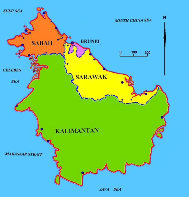 О борнео где находится
