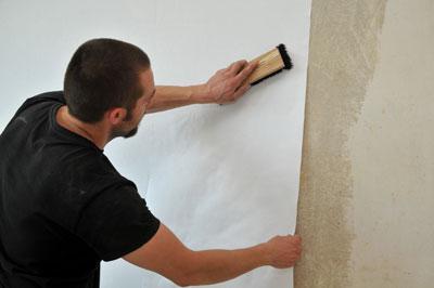 sticking non-woven wallpaper