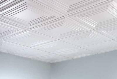 how to glue tiles on the ceiling