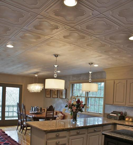 how to put tiles on the ceiling