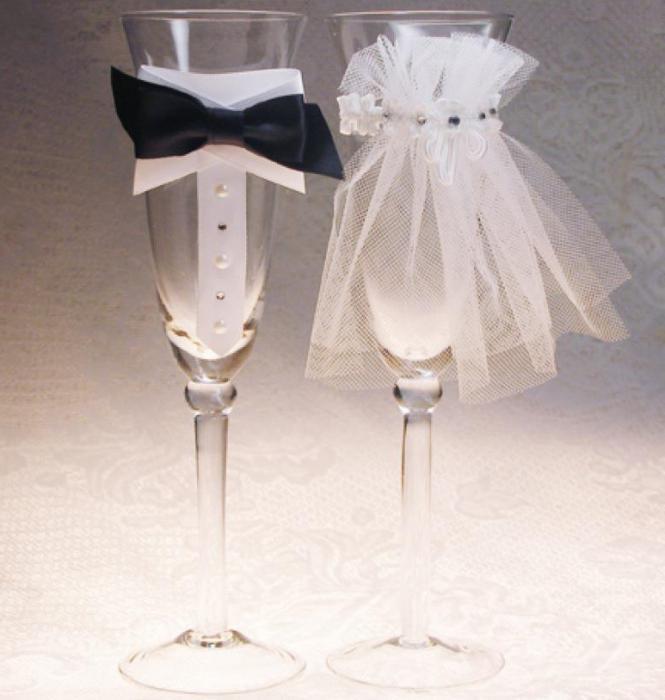 Свадебная фужеры своими руками
