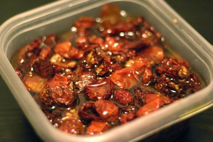 сушеные помидоры в масле рецепт