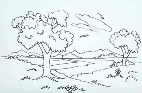 Как нарисовать поэтапно утро леса весной картинки