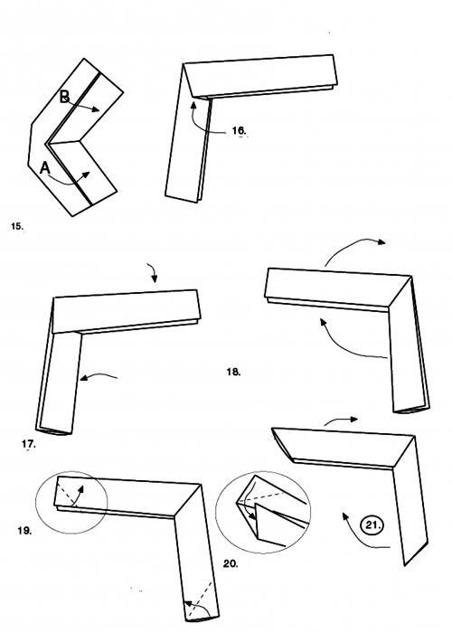Оригами из бумаги как сделать бумеранг