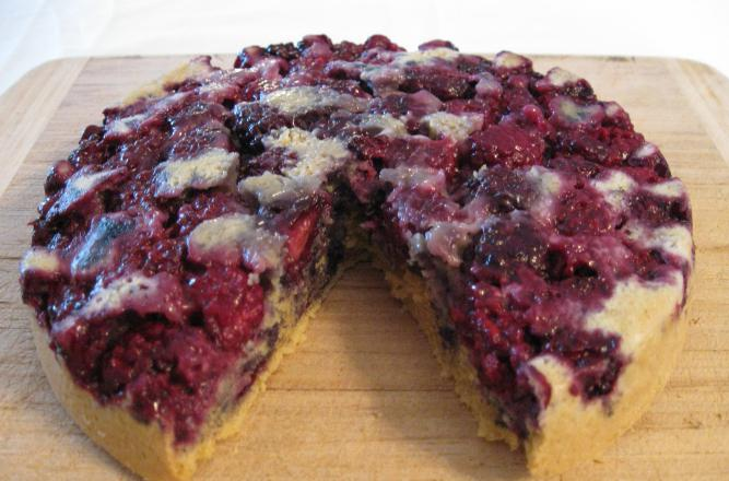 Пирог с ежевикой рецепт с фото пошагово в духовке