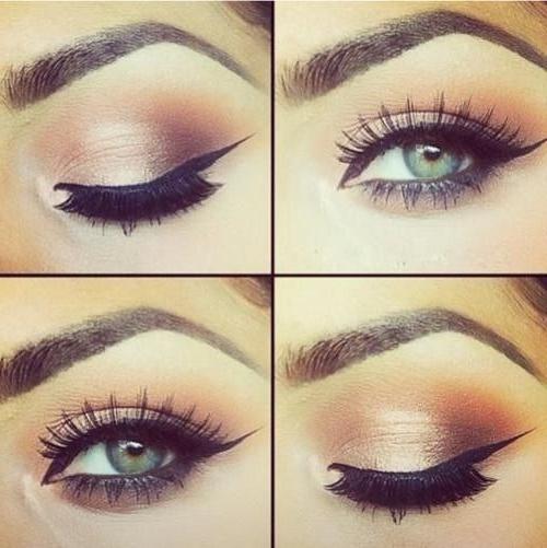 стрелки для миндалевидных глаз