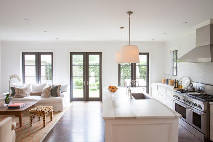 living room design combined with kitchen