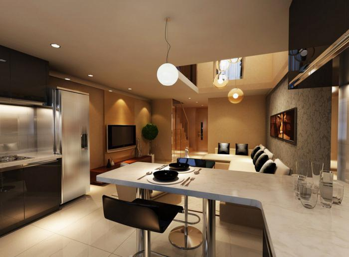 kitchen combined with living room Khrushchev