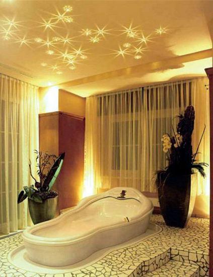 Как сделать потолок в ванной с фото