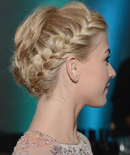 braid around the head