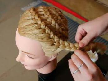 французская коса вокруг головы