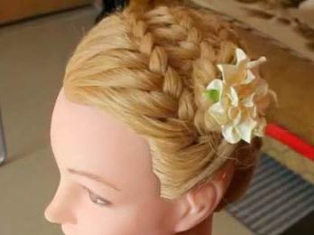 hair braid around head