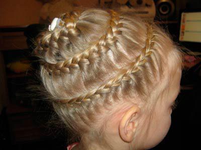 заплести косу вокруг головы