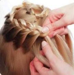 коса вокруг головы схема