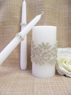 украшение свадебных свечей своими руками