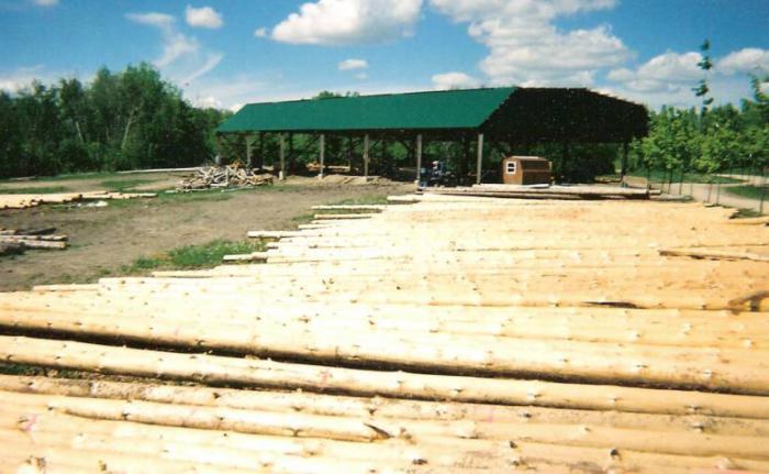 начало строительства дома из бруса
