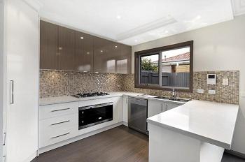 paneled kitchen wall decoration photo