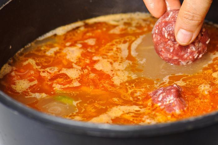 рецепт супа с тефтелями из куриного фарша