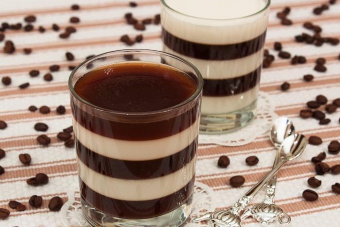Желе молочно-кофейное