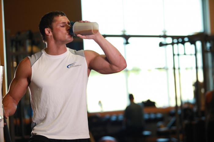 how best to drink protein