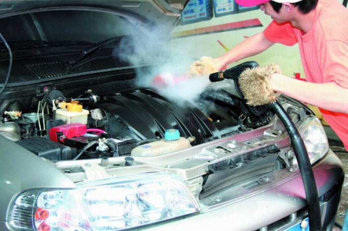 Мойка двигателя парогенератором