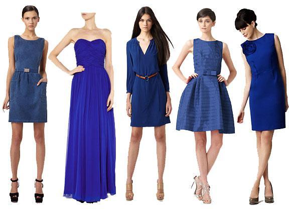 Платье трикотажное синее с чем носить