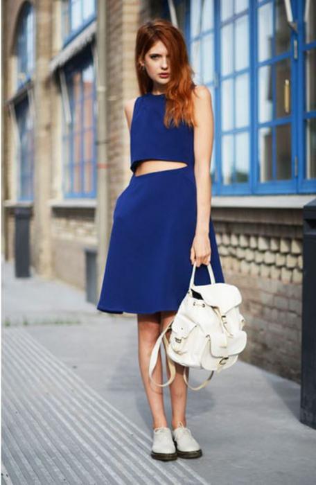 Идеи голубого платья