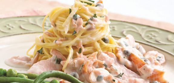 salmon pasta in cream sauce
