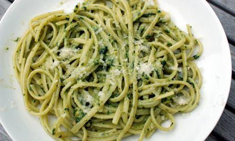 basil pesto for boiled spaghetti