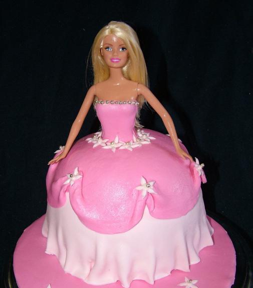 как сделать торт барби