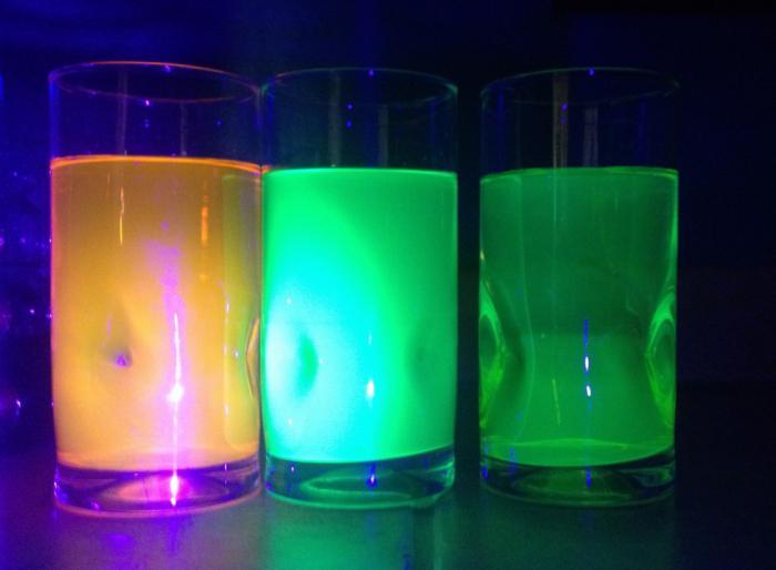 Как сделать светящуюся жидкость своими руками? Фото. Видео