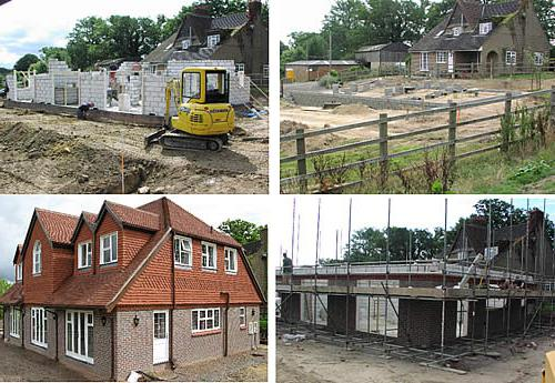 private house construction stages