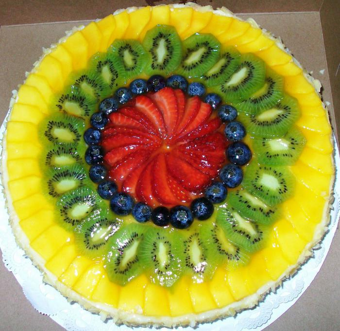Торты фруктовые желе