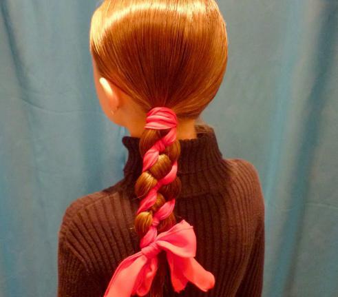 коса с лентой фото урок